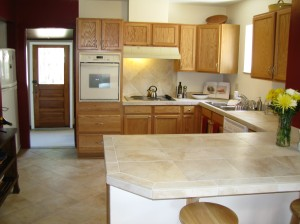Tile countertops to update the kitchen