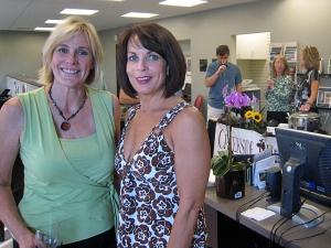 Colleen McGrath & Sherri Wheeler at the Cherry Creek North 2009 Wine Crawl