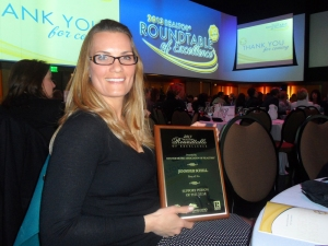 Jennifer Schell is awarded the Denver Metro Association of Realtors Roundtable of Excellence Support Person of the Year
